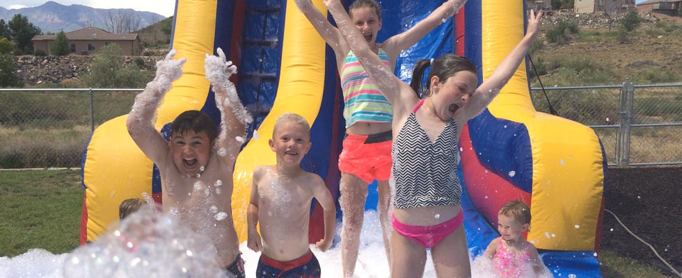 Backyard Foam Party